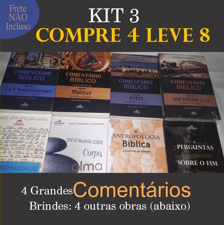SUPER PROMOÇÃO DA GRAMATA - KIT 3 - Compre 4 Leve 8
